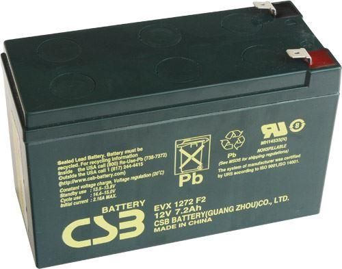 Akumulátor (baterie) CSB EVX1272 F2, 12V 7,2Ah, Faston 250, široký