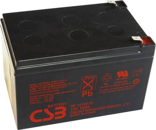 Akumulátor (baterie) CSB GP12120 F2, 12V, 12Ah, Faston 250, široký
