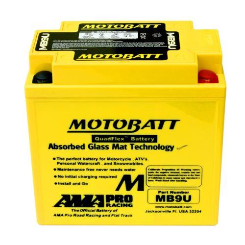 Motobaterie Motobatt MB9U, 12V, 11Ah, 140A (YB9L-B, 12N9-3A, YB7L-B)