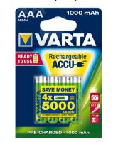 Baterie Varta HR03, 56743101404, AAA, 1000mAh, nabíjecí, (Blistr 4ks)