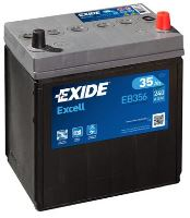 Autobaterie EXIDE Excell 12V, 35Ah, 240A, EB356