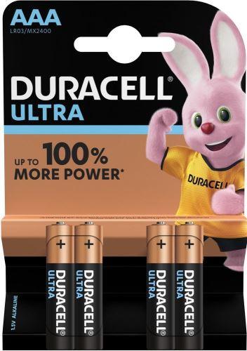Baterie Duracell Ultra Power MX2400, AAA, LR03, alkaline (Blistr 4ks)