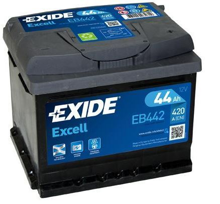 Autobaterie EXIDE Excell 12V, 44Ah, 420A, EB442