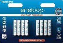Baterie Panasonic Eneloop AAA, 750mAh, BK-4MCCE/8BE (blistr 8ks)