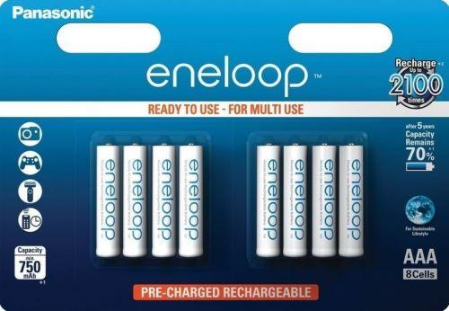 Baterie Panasonic Eneloop BK-4MCCE/8BE, AAA, 750mAh, (blistr 8ks)