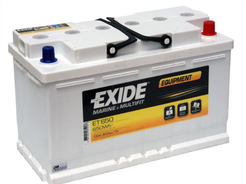 Trakční baterie EXIDE EQUIPMENT, 12V, 100Ah, ET650