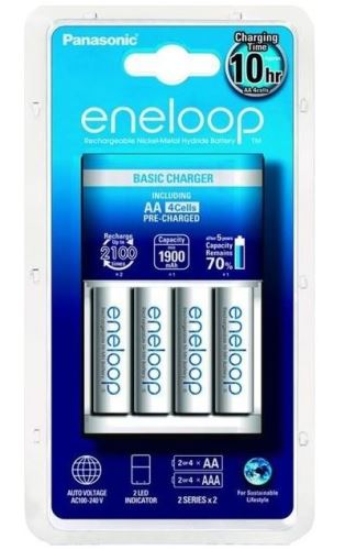 Nabíječka Panasonic Eneloop Charger BQ-CC51E + 4xBK-3MCCE, AA, 1900mAh