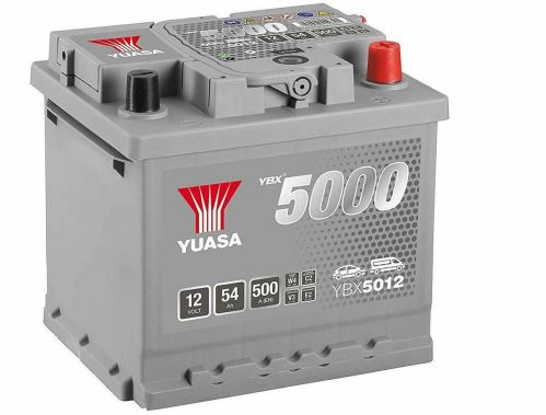 Autobaterie Yuasa Silver High Performance 54Ah, 12V, 500A (YBX5012)