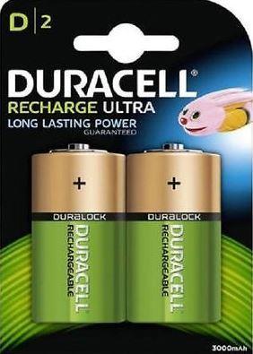 Baterie Duracell Stay Charged, D, 3000mAh, nabíjecí, (Blistr 2ks)