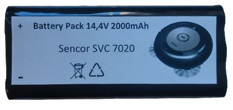 Baterie pro Sencor SVC 7020, 14,4V, 2000mAh