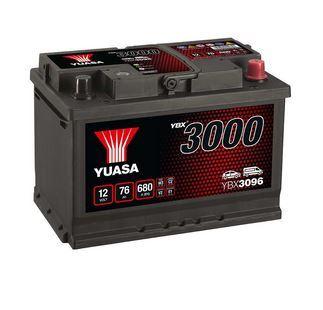Autobaterie Yuasa YBX3000, 76Ah, 12V, 680A (YBX3096)