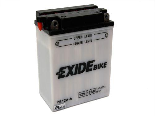 Motobaterie EXIDE BIKE Conventional 12Ah, 12V, 170A, YB12A-A