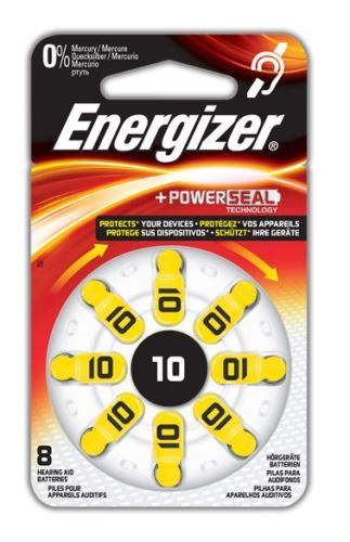 Baterie do naslouchadel Energizer 10 SP-8, (Blistr 8ks)