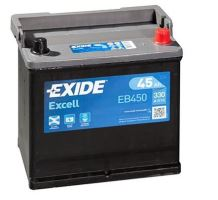 Autobaterie EXIDE Excell 12V, 45Ah, 330A, EB450