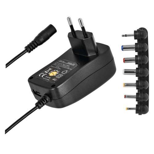 Pulzní USB napájecí zdroj N3112, 1500mA, 3V - 12V s hřebínkem (Blister 1ks)