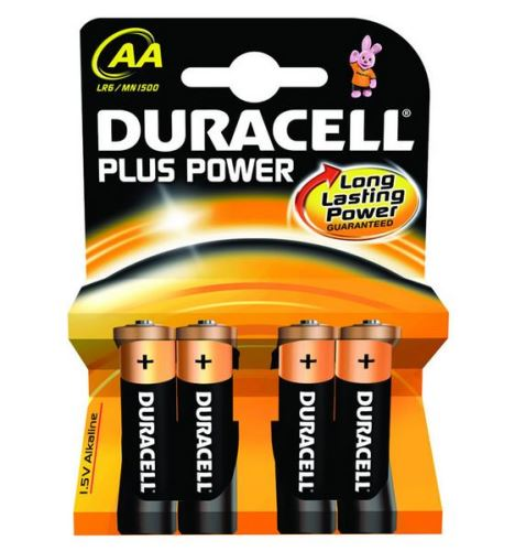 Baterie Duracell Plus Power MN1500, AA, (Blistr 4ks)