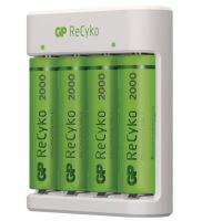 Nabíječka baterií GP Eco E411 + 4× AA 2000 ReCyko, B51414, (USB) 1604841110