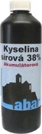 Kyselina akumulátorová, láhev 0,5L