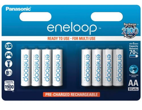Baterie Panasonic Eneloop BK-3MCCE/8BE, AA, 1900mAh, (blistr 8ks)