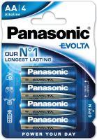 Baterie Panasonic Evolta Alkaline, LR6, AA, (Blistr 4ks)