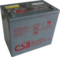 Akumulátor (baterie) CSB HRL12200W, 12V, 50Ah, zapuštěný závit M6