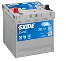 Autobaterie EXIDE Excell 12V, 50Ah, 360A, EB505 - levá