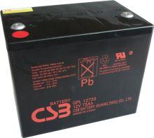 Akumulátor (baterie) CSB GPL12750, 12V, 75Ah, zapuštěný závit M6, M8