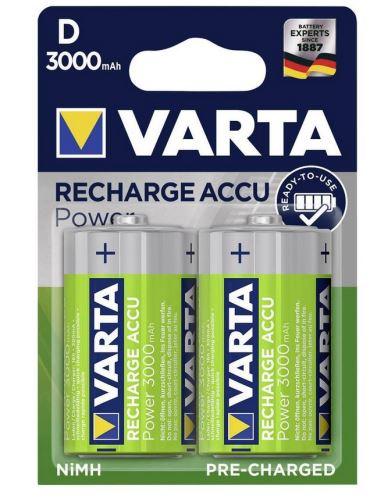 Baterie Varta HR20, 56720 101 402, D, 3000mAh, nabíjecí, (Blistr 2ks)