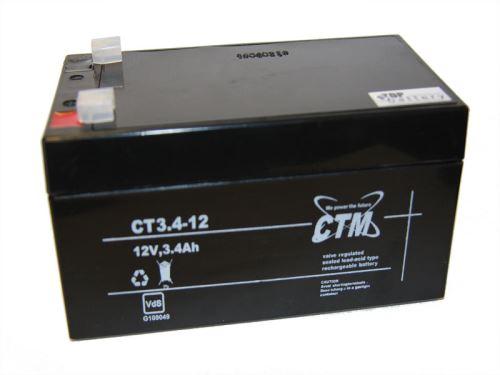 Akumulátor (baterie) CTM/CT 12-3,4 (3,4Ah - 12V - Faston 187)