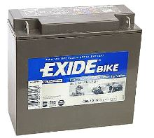 Motobaterie EXIDE BIKE Factory Sealed 16Ah, 12V, 100A, GEL12-16