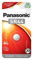 Baterie Panasonic SR44 (357), stříbro-oxidová 1,5V, (Blistr 1ks)