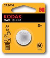 Baterie Kodak Max CR2016, Lithium, 3V, (Blistr 1ks)