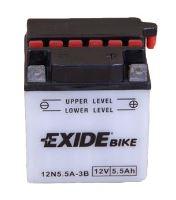 Motobaterie EXIDE BIKE Conventional 5,5Ah, 12V, 60A, 12N5,5-3B