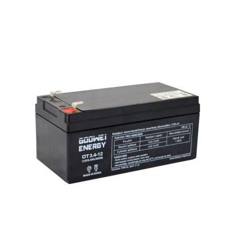 Staniční (záložní) baterie Goowei OT3,4-12, F1, 3,4Ah,12V ( VRLA )