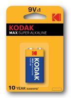 Baterie Kodak Max 9V, 6LR61, Alkaline, (Blistr 1ks)