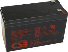 Akumulátor (baterie) CSB GP1272 F2, 12V 7,2Ah, Faston 250, široký