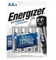 Baterie Energizer Ultimate AA, L91, Lithium, 35035752, (Blistr 4ks)