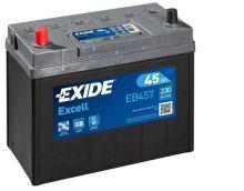 Autobaterie EXIDE Excell 12V, 45Ah, 300A, EB457 - Levá