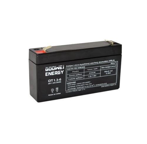Staniční (záložní) baterie Goowei OT1,3-6, F1, 1,3Ah, 6V ( VRLA )