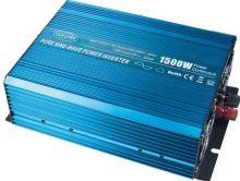 Měnič napětí z 24V na 230V, 1500W sinus + USB