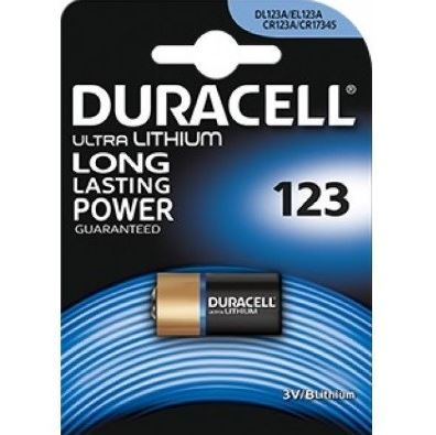 Baterie Duracell CR123, Lithium, fotobaterie, (blistr 1ks)