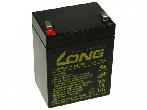 Baterie Long 12V, 2,9Ah olověný akumulátor F1