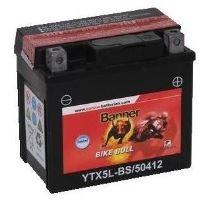 Motobaterie Banner Bike Bull AGM YTX5L-BS, 12V, 4Ah