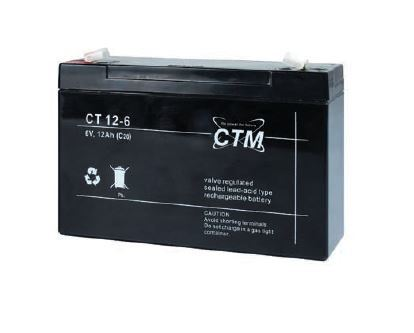 Akumulátor (baterie) CTM/CT 6-12 (12Ah - 6V - Faston 187)