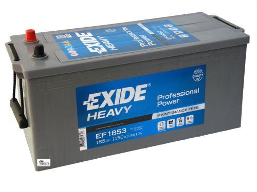 Autobaterie EXIDE Professional Power HDX, 12V, 185Ah, 1150A, EF1853