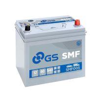 Autobaterie GS SMF/Yuasa 60Ah, 12V, 540A, SMF005 - Japan pravá