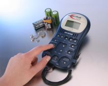 Digitální tester (zkoušečka) Ansmann CheckLCD pro AA, AAA, C, D, 9V, knoflíkové