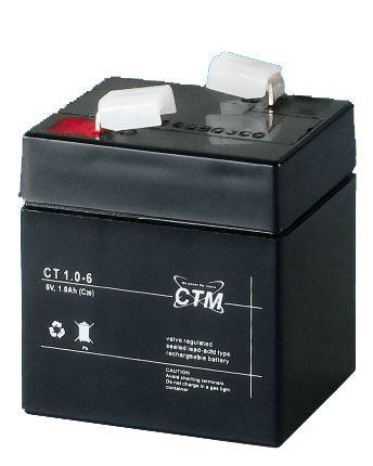 Akumulátor (baterie) CTM/CT 6-1, (1Ah - 6V - Faston 187)
