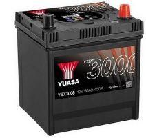 Autobaterie Yuasa YBX3000, 50Ah, 12V, 450A (YBX3008) - Japan Pravá