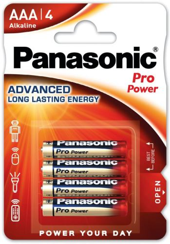 Baterie Panasonic Pro Power, LR03, AAA, (Blistr 4ks)